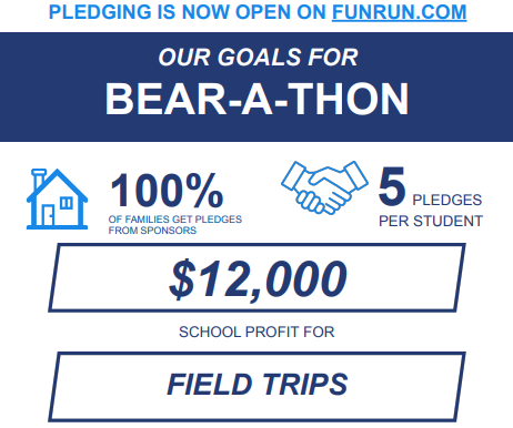 Pledging is now OPEN for the BEAR-A-THON.