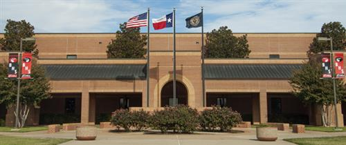 Photograph of the front of Burleson High School