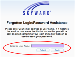 Forgotten Login or Password Assistance Image
