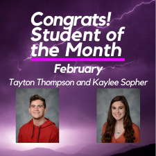 Student of the Month Peyton Ward