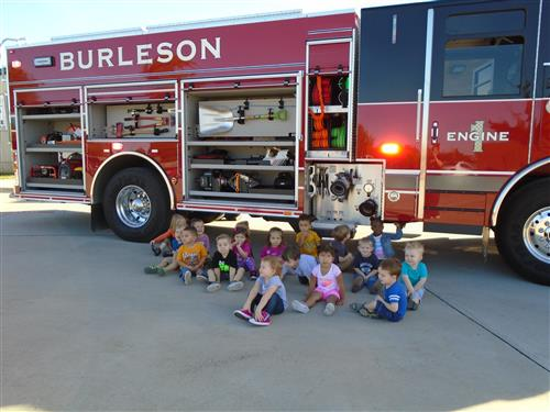 Ms Megan's Class Visits the Firetruck