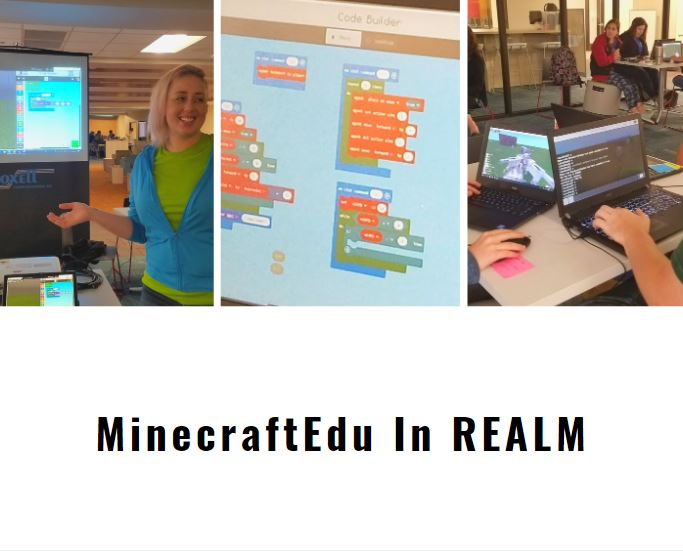 Picture of Students and Computers during a MinecraftEdu training.