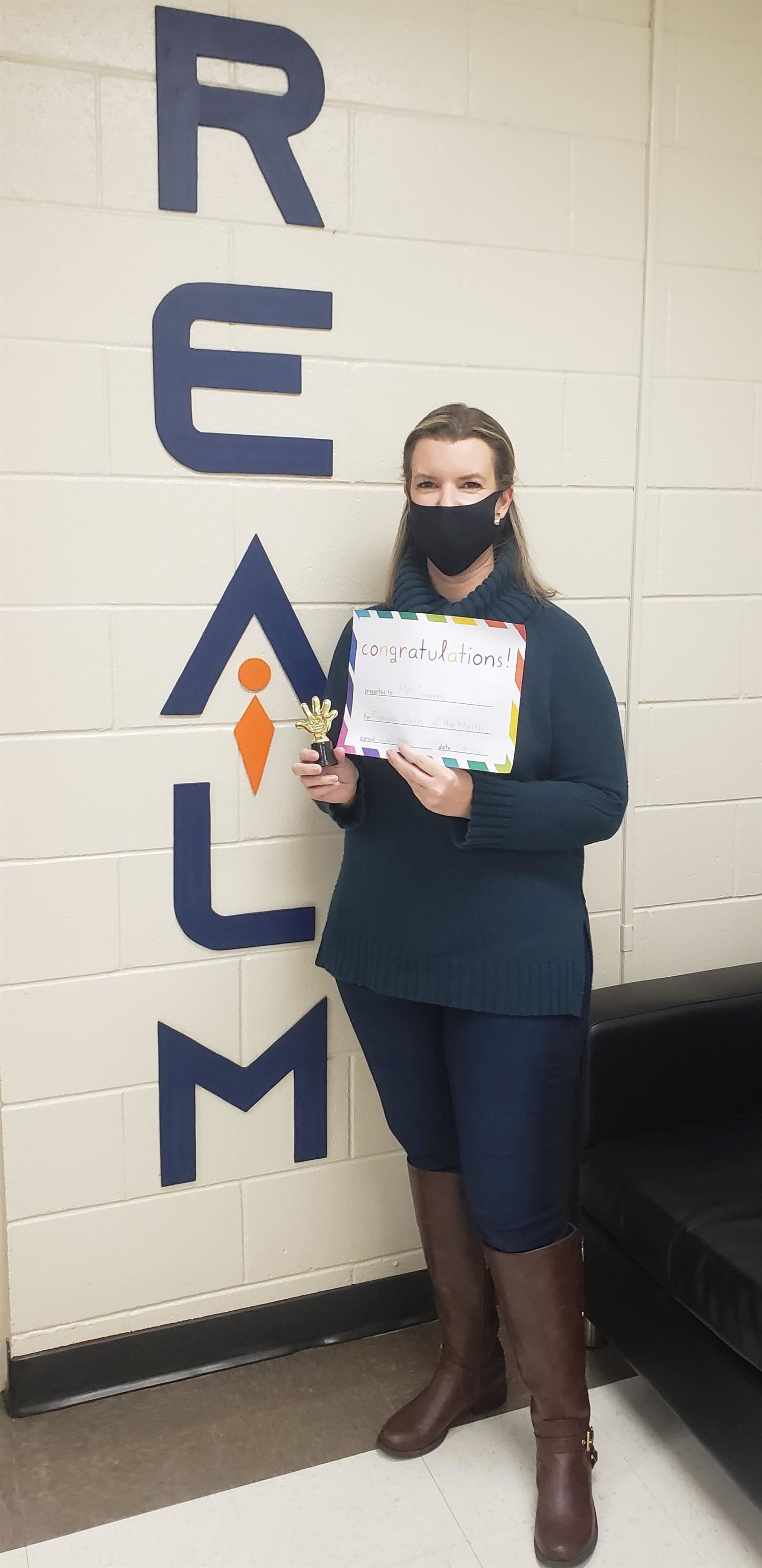 January Teacher of the Month - Lindsay Simmons
