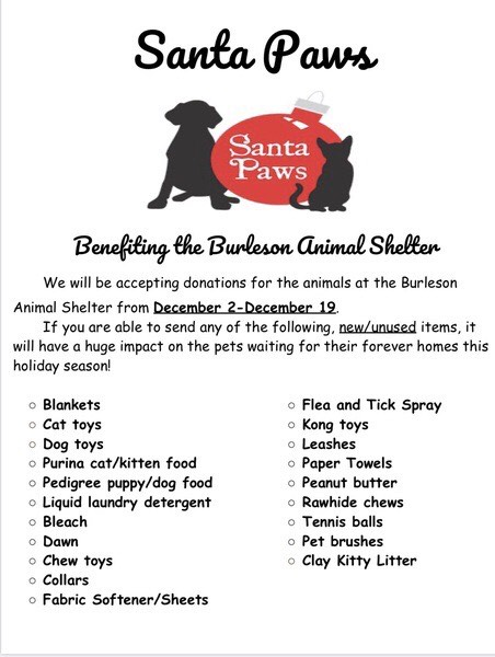 Santa Paws wish list