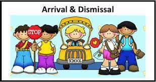 Arrival and Dismissal students with stop sign and bus