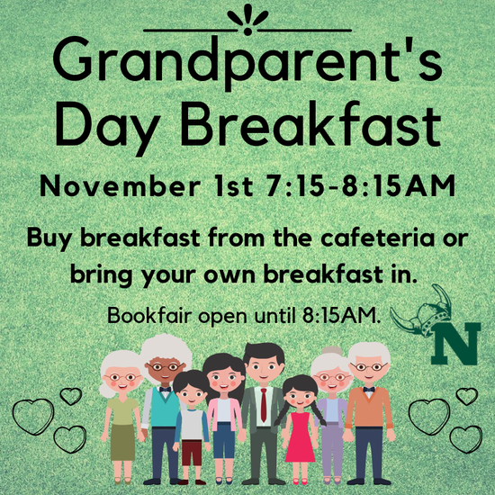 Green Grandparents Day Breakfast November 1st 7:15-8:15am