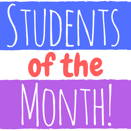 Photo of Students of the Month banner