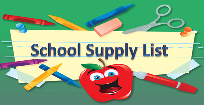 Hajek's 2019-20 School Supply List
