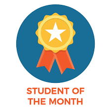 Photot of Student of the Month Ribbon
