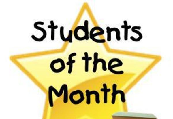 Photo of Students of the Month star