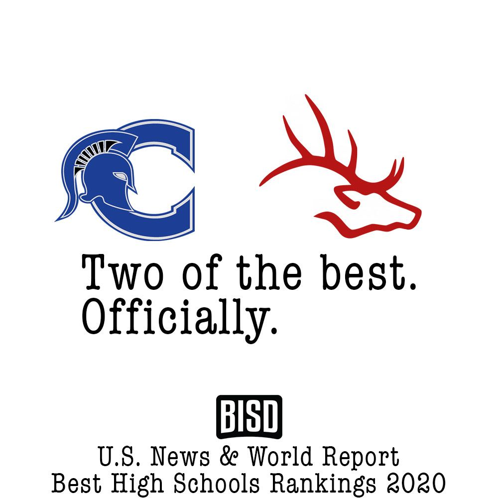 BISD Best High Schools by U.S. News and World Report's Best High Schools 2020