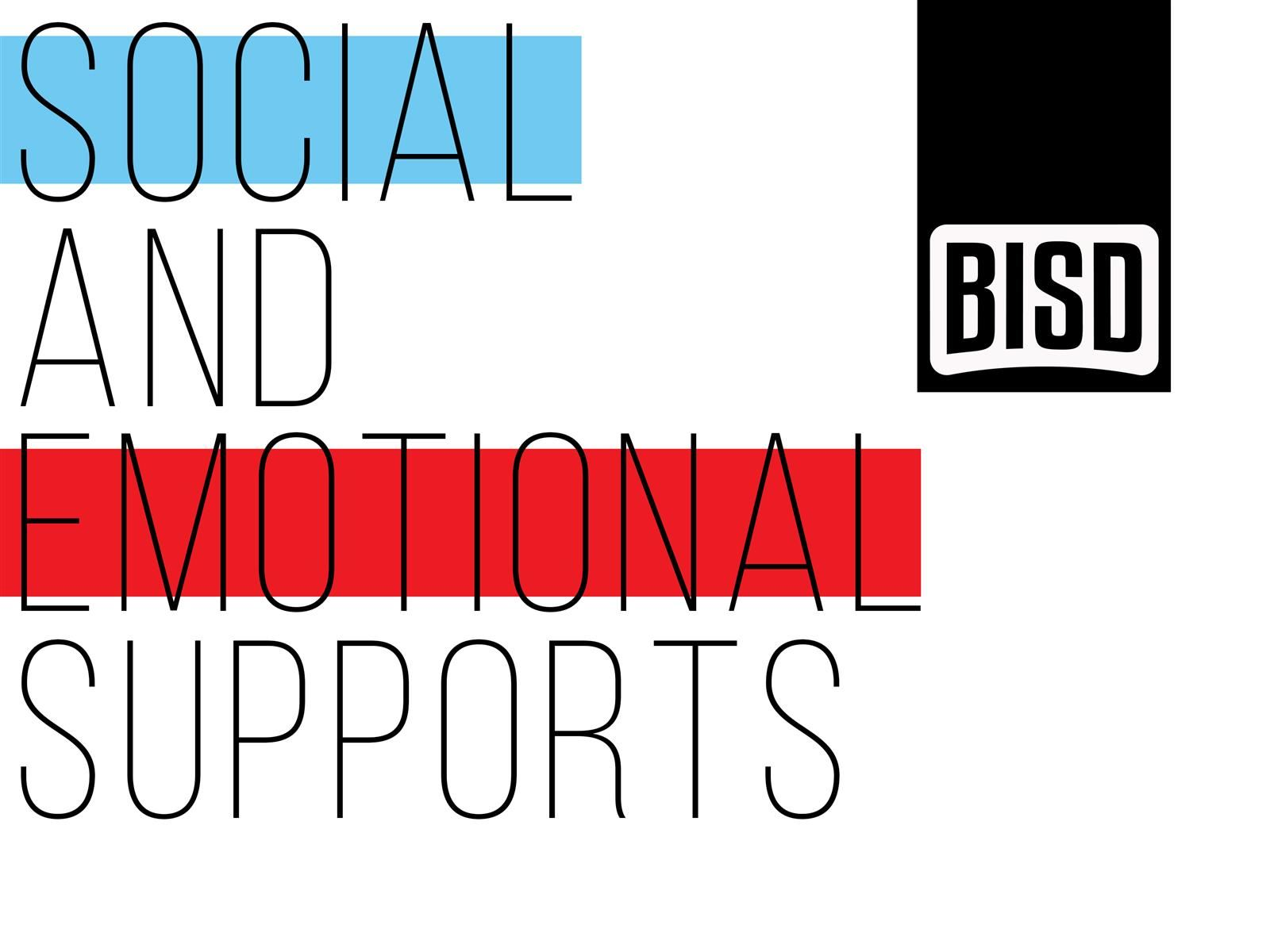 Social and Emotional Support Image with words