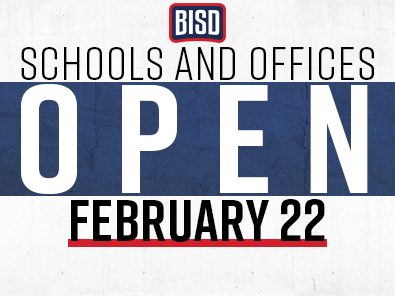 BISD will open Monday, February 22