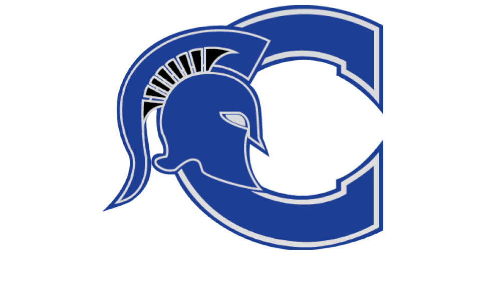 "CHS Logo Image of a capital ""C"" with a spartan helmet"