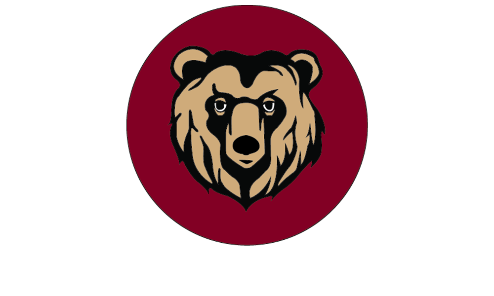 Frazier Logo Image of a bear head on a red background