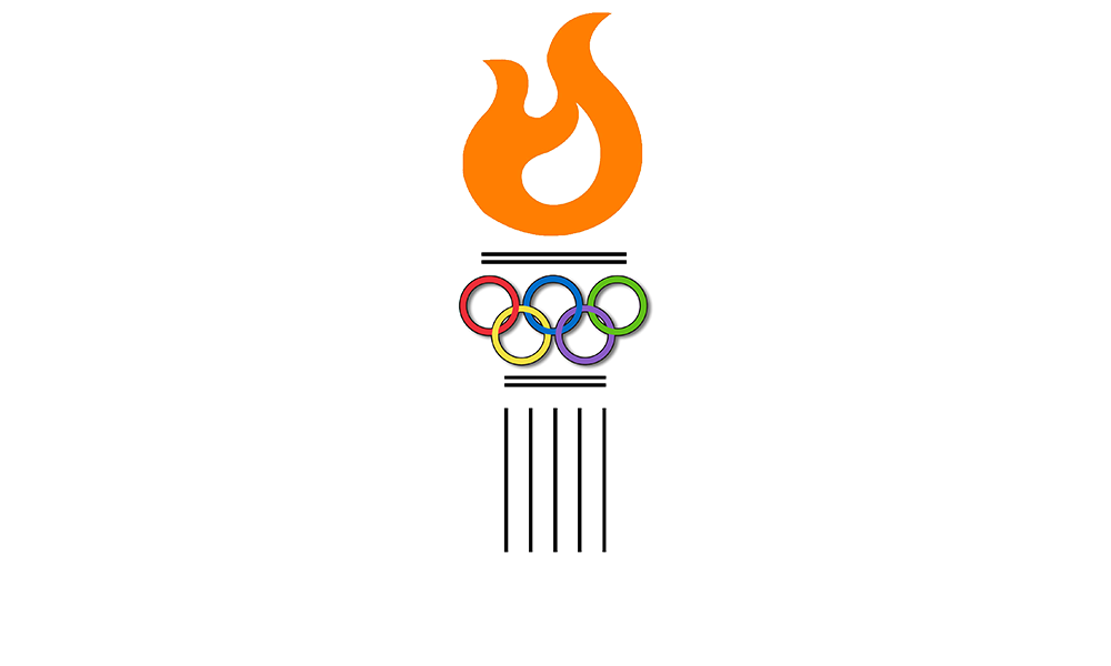 Academy at Nola Dunn Logo Image of an olympic torch and rings